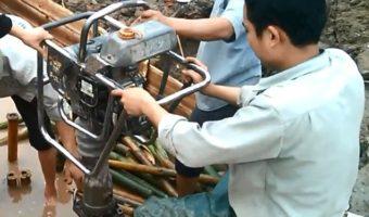 Hướng dẫn chi tiết thi công đóng cọc tre cho móng