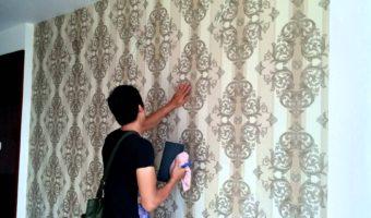 Hướng dẫn các bước thi công giấy dán tường