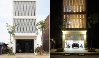 Tận dụng ánh sáng tự nhiên cho ngôi nhà với thiết kế tổ ong