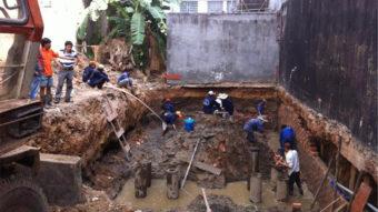 Hướng dẫn xử lý móng nhà ngập nước
