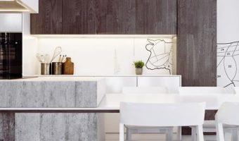 Xây toàn nội thất nhà bếp bằng bê tông mà vẫn đẹp đến khó tin