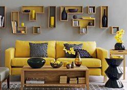 Ý tưởng trang trí nội thất màu vàng chanh
