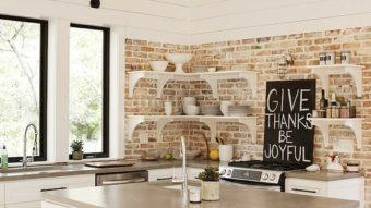 Trang trí nhà bằng gạch thô, bạn có muốn thử?