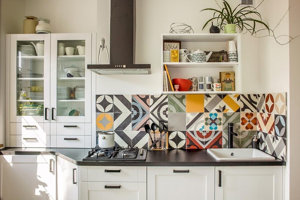 Gạch trang trí tường bếp