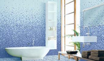 Gạch mosaic thủy tinh – Sự lung linh không chỉ đến từ phòng khách