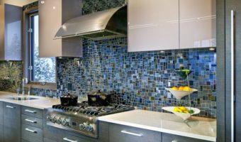 Sang trọng với gạch mosaic ốp bếp cực chất