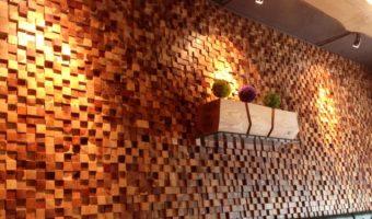 Sự khác biệt trong không gian đến từ gạch mosaic gỗ