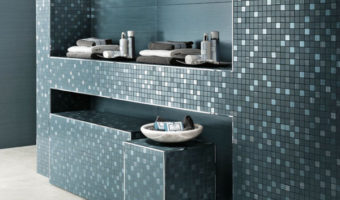 Gạch kính mosaic cho phòng tắm
