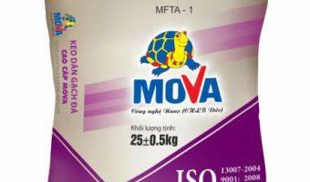 Báo giá keo dán gạch Mova và định mức sử dụng
