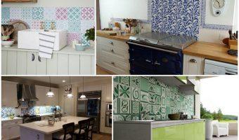 Căn phòng bếp trở nên độc đáo nhờ gạch bông trang trí cao cấp