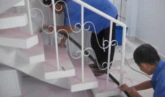 Bảo dưỡng, vệ sinh đá hoa cương ốp lát cầu thang