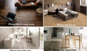 Làm mới không gian nhà với những thiết kế độc đáo từ gạch vân gỗ 15×60