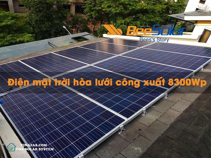 Điện mặt trời hòa lưới 83000Wp cho hộ gia đình