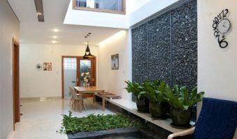 Thiết kế giếng trời bằng đá tự nhiên đang được giới xây dựng dành nhiều ưu ái