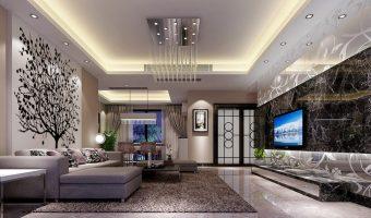 Bạn đã thử trang trí phòng khách bằng tấm ốp giả đá chưa?