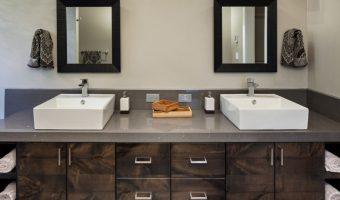 Bàn đá marble đang ngày càng được sử dụng nhiều trong nhà tắm