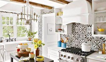 Gạch bông ốp lát backsplash nhà bếp thay đổi qua các năm