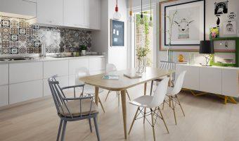 Làm đẹp không gian bếp cùng với gỗ nhựa ốp tường