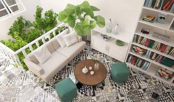 Gạch bông lộn xộn – Nét phá cách trong trang trí nhà ở hiện nay