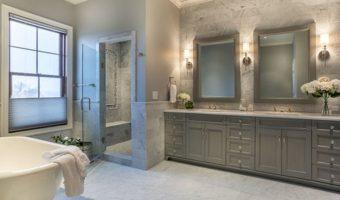 Thiết kế phòng tắm tuyệt đẹp với đá cẩm thạch