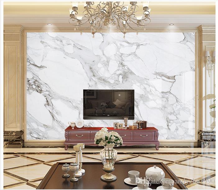 Trang hoàng phòng khách bằng tấm nhựa giả đá marble