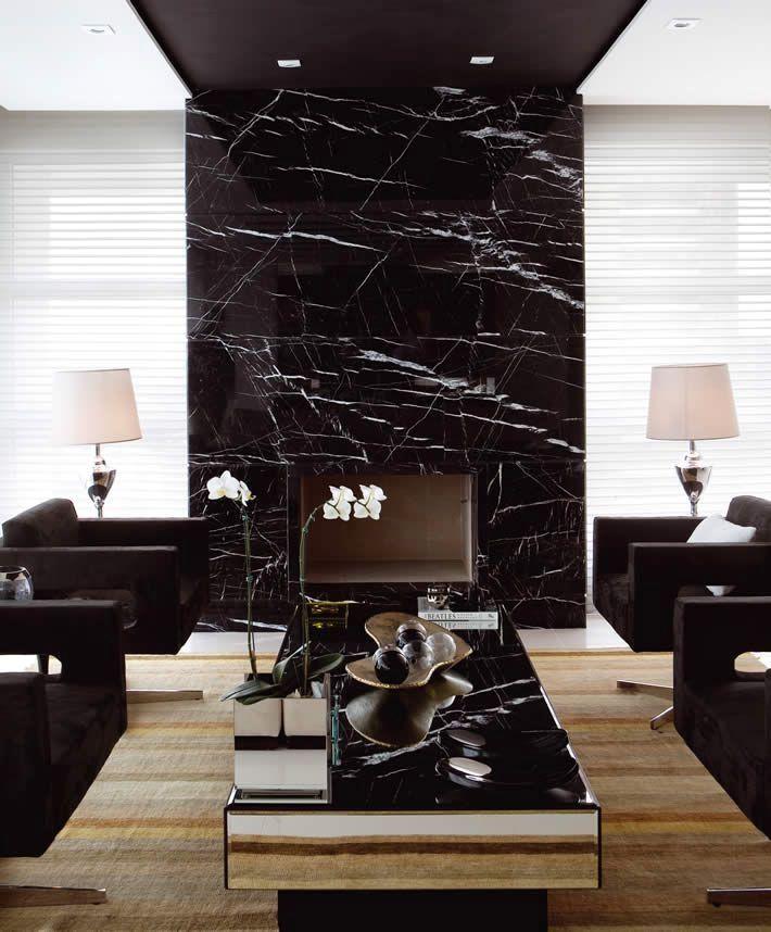 đá marble đen tia chớp ốp tường