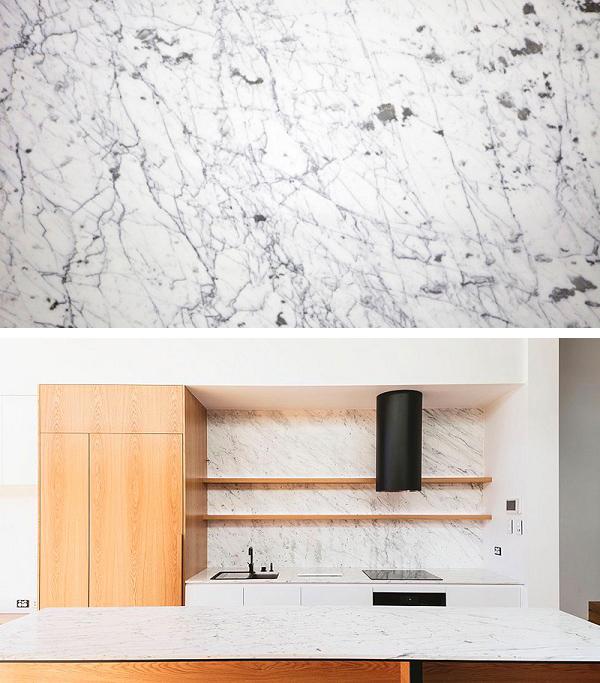 Những mẫu đá marble trắng ốp bếp hoàn hảo 12