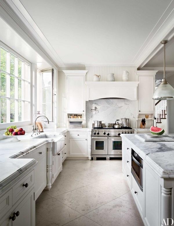 Những mẫu đá marble trắng ốp bếp hoàn hảo 17