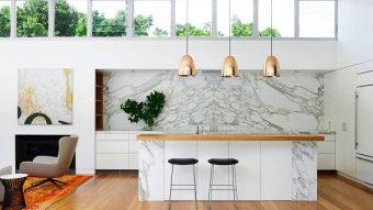 Những mẫu đá marble trắng ốp bếp hoàn hảo