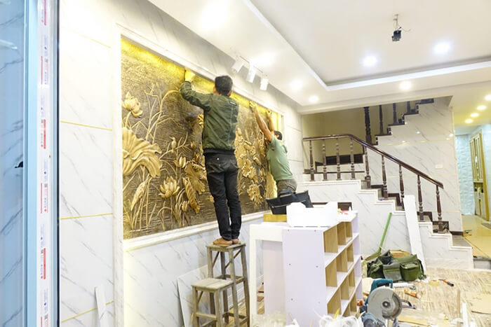 Hướng dẫn thi công ốp tường nhựa tại nhà-8