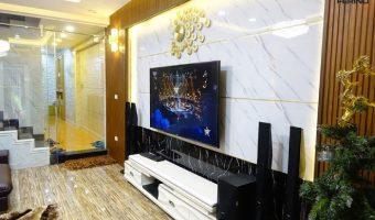 Tấm nhựa giả đá – vật liệu ốp tường phòng khách hoàn hảo
