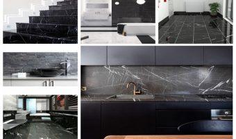 5 không gian đẹp miễn chê với đá marble đen tia chớp