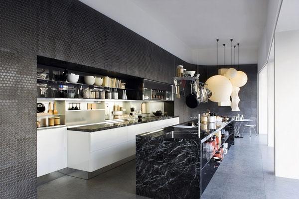 5 không gian đẹp miễn chê với đá marble đen tia chớp 3