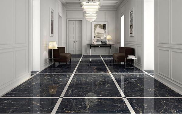 5 không gian đẹp miễn chê với đá marble đen tia chớp 7