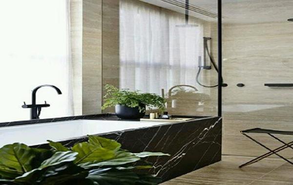 5 không gian đẹp miễn chê với đá marble đen tia chớp 6