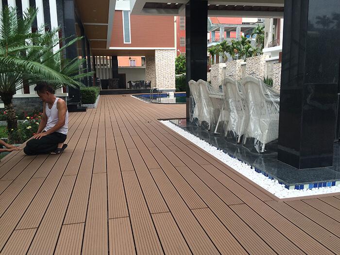 Sàn gỗ nhựa ngoài trời đồng hành cùng không gian mở