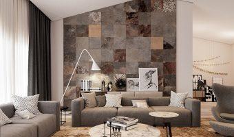 TOP 3 mẫu gạch ốp tường phòng khách Đẹp – Sang chảnh nhất 2019