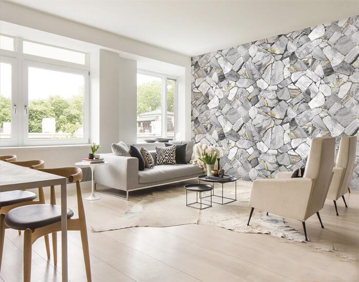 TOP 3 mẫu gạch ốp tường phòng khách Đẹp - Sang chảnh nhất 2019