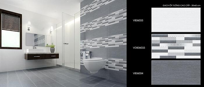 Chọn gạch trang trí tường nhà vệ sinh theo phong cách