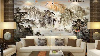 Tranh gạch đá trang trí ĐẸP- ĐỘC- LẠ cho tường phòng khách
