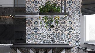 Xu hướng sử dụng gạch trang trí ốp tường phòng khách hot nhất 2021
