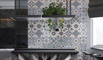 Xu hướng sử dụng gạch trang trí ốp tường phòng khách hot nhất 2019