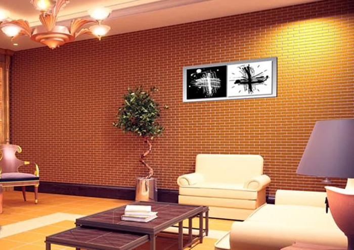 Xu hướng sử dụng gạch trang trí ốp tường phòng khách hot nhất 2019-08