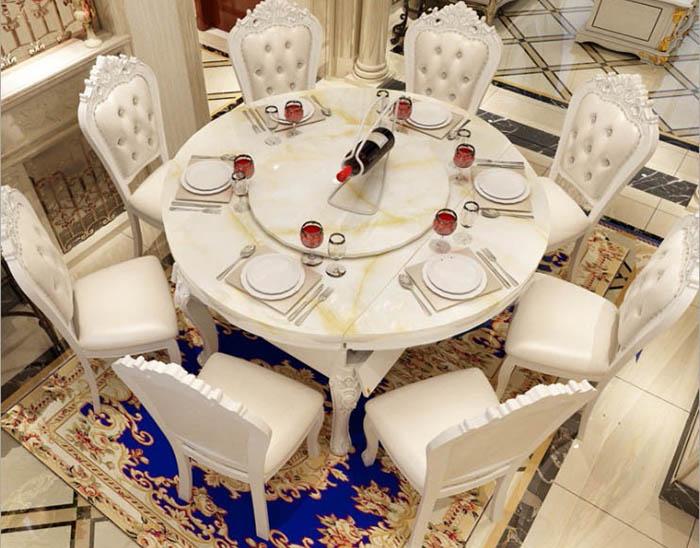 Các mẫu bàn ăn mặt đá cẩm thạch cao cấp-01