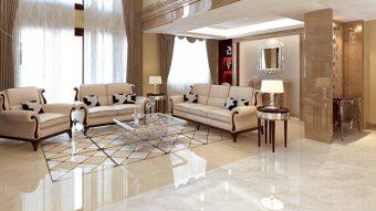 Ứng dụng của đá crema marfil trong kiến trúc nhà ở hiện đại