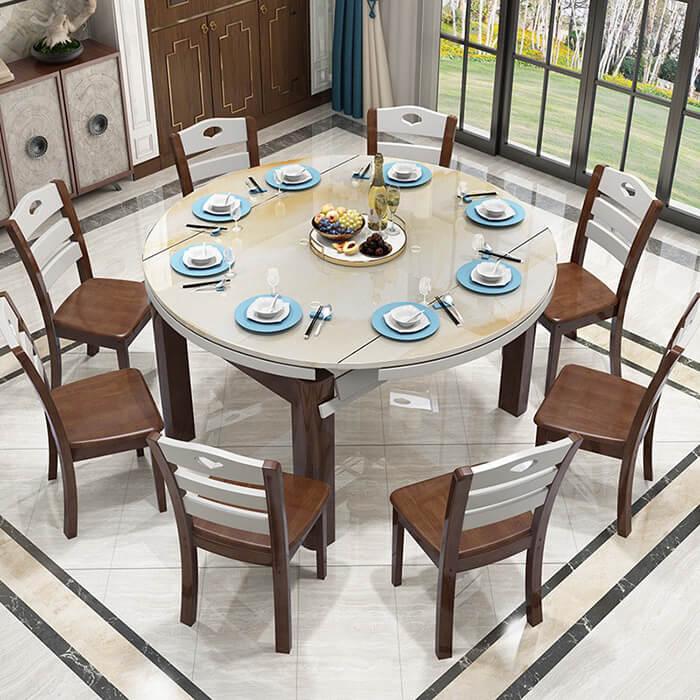 Cách bố trí bàn ăn hình tròn hợp phong thủy-11