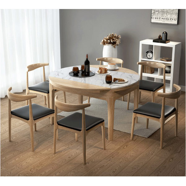 Cách bố trí bàn ăn hình tròn hợp phong thủy-5