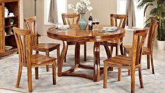 Cách bố trí bàn ăn hình tròn hợp phong thủy