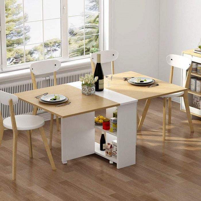 Điểm danh 10 bộ bàn ăn xếp gọn thông minh cho diện tích nhà nhỏ-10