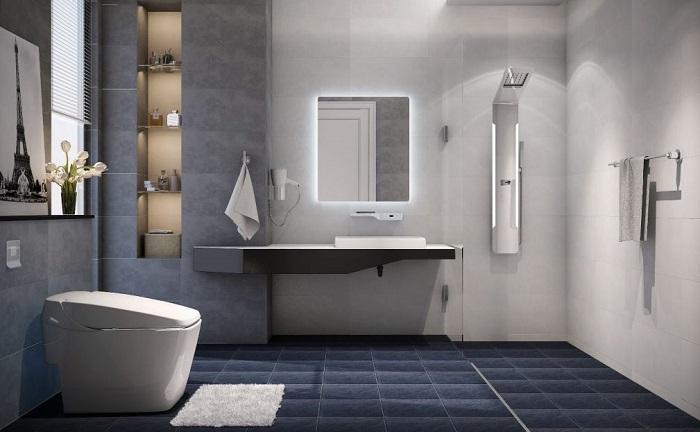 Một số lưu ý về phong thủy khi treo gương toilet-1